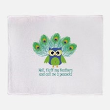 Fluff My Feathers Throw Blanket