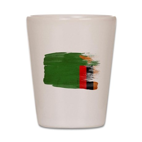 Zambia Flag Shot Glass