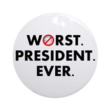 Cute Worst president Ornament (Round)