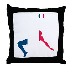 France Soccer Throw Pillow
