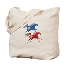 Two Ancient Horses Tote Bag