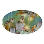 The Fairy Circus Sticker (Oval 10 pk)