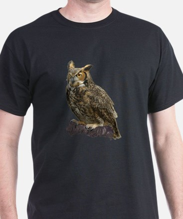 Great Horned Hoot Owl - in Black!