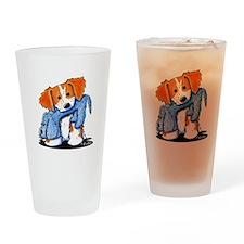 Dog Eat Dog Brittany Drinking Glass