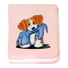 Dog Eat Dog Brittany baby blanket