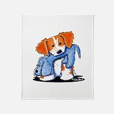Dog Eat Dog Brittany Throw Blanket