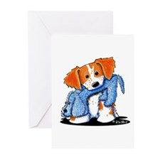 Dog Eat Dog Brittany Greeting Cards (Pk of 10)