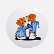 Dog Eat Dog Brittany Ornament (Round)
