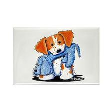 Dog Eat Dog Brittany Rectangle Magnet