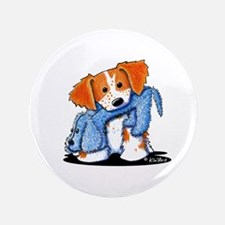 "Dog Eat Dog Brittany 3.5"" Button"