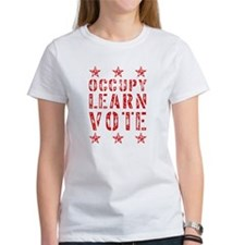 occupy learn vote red Tee