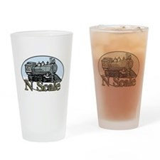N Scale Steam Engine 1:160 Drinking Glass