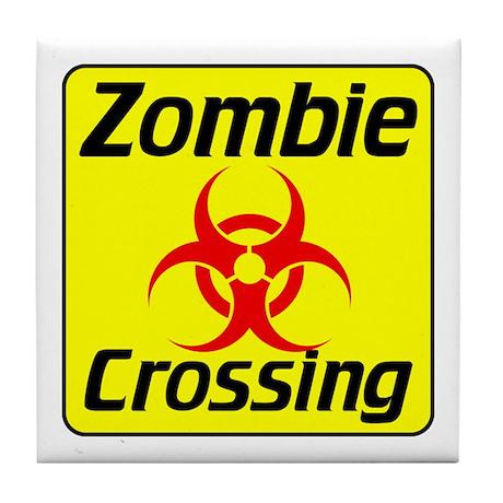 Zombie Crossing Tile Coaster