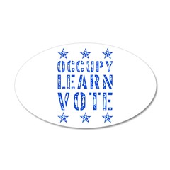 occupy learn vote blue 22x14 Oval Wall Peel