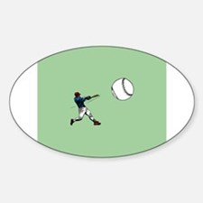Baseball Sticker (Oval)