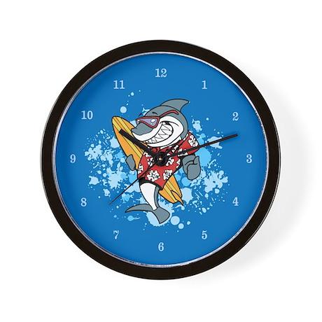 Shark Cartoon Wall Clock