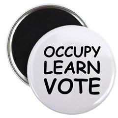 OCCUPY LEARN VOTE Magnet