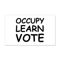 OCCUPY LEARN VOTE 22x14 Wall Peel