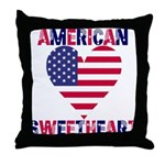 American Sweetheart Throw Pillow