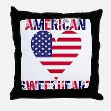 American Sweetheart Throw Pillow