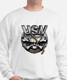 USN Skull Navy Anchor Sweatshirt