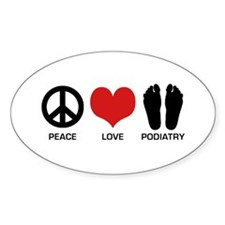 Peace Love Podiatry Decal