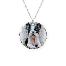 French Bulldog Necklace Circle Charm