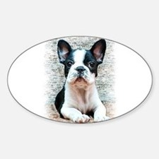 French Bulldog Sticker (Oval)