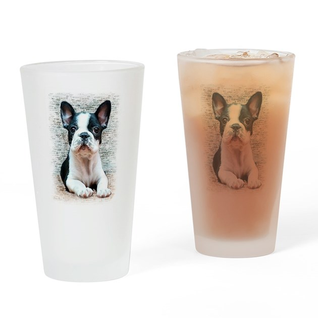 French Baby Gifts Australia : French bulldog drinking glass by ritmoboxers