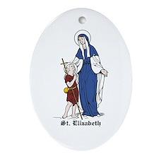 St. Elizabeth Oval Ornament