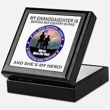 National Guard Granddaughter Keepsake Box