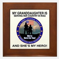 National Guard Granddaughter Framed Tile