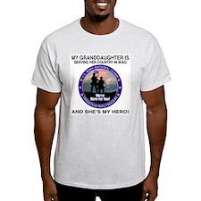 National Guard Granddaughter (F&B) Ash Grey T-Shir