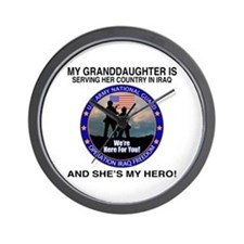 National Guard Granddaughter Wall Clock