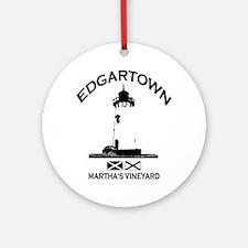 Edgartown MA - Lighthouse Design. Ornament (Round)