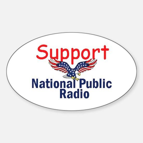 Support NPR Sticker (Oval)
