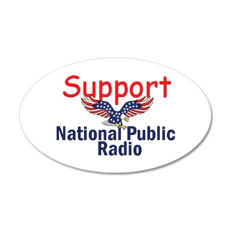 Support NPR 38.5 x 24.5 Oval Wall Peel