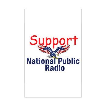 Support NPR Mini Poster Print