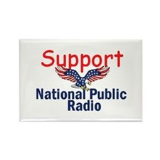 Support NPR Rectangle Magnet