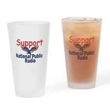Support NPR Drinking Glass