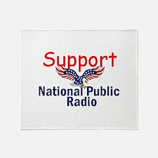 Support NPR Throw Blanket