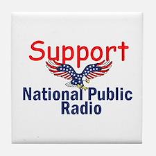 Support NPR Tile Coaster