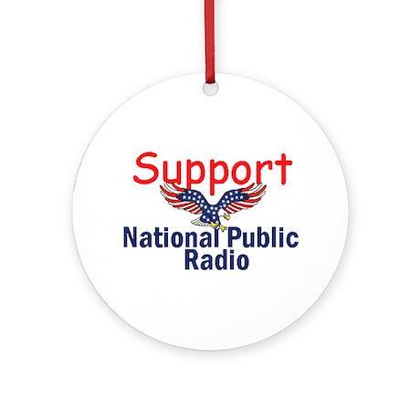 Support NPR Ornament (Round)