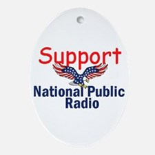 Support NPR Ornament (Oval)