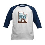 Arches National Park Utah Kids Baseball Jersey