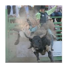 Bull Riding Tile Coaster