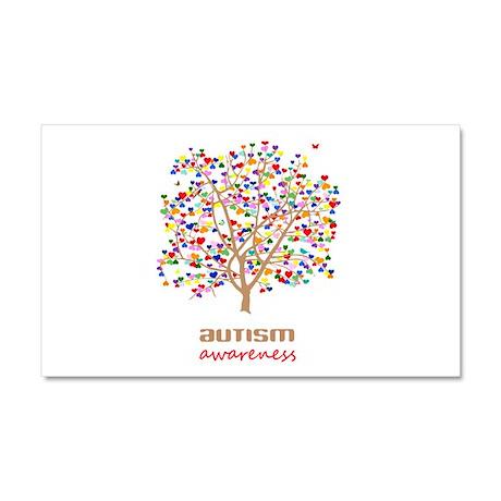 Tree of Autism Car Magnet 20 x 12
