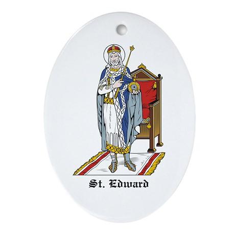 St. Edward Oval Ornament