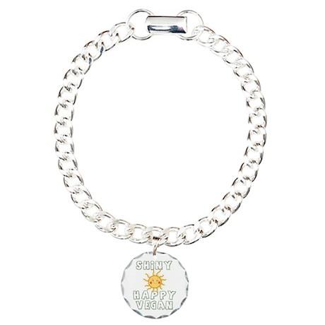 Shiny Happy Vegan Charm Bracelet, One Charm