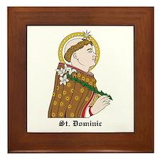 St. Dominic Framed Tile